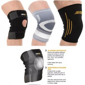 717e12b112 Image is loading Knee-Support-Brace-Open-Patella-Adjustable-Strap-Running-