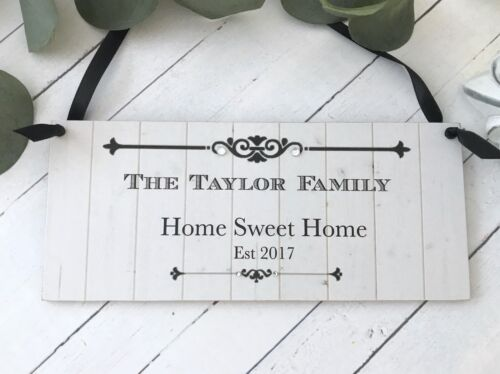 Personalised Family Home Sweet Home Sign Plaque P340