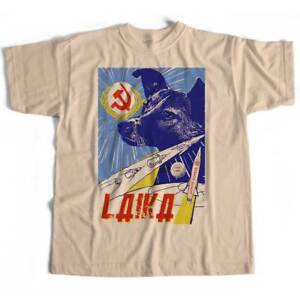 Space-T-Shirt-Laika-The-Space-Dog-CCCP-Russia-Soviet-Era-Poster