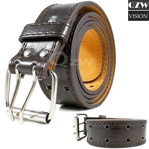 Men-039-s-Genuine-Leather-Dress-Jeans-Belts-With-Buckle-Causal-Black-Brown-M-L-XL