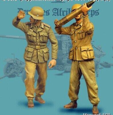 1//35 Resin WWII German 8.8cm Flak18 Artillery Crew 5 Set Unpainted Unbuild