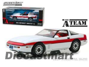 Greenlight-1-18-The-A-Team-TV-Series-1984-Chevrolet-Corvette-C4-White-13532-Car