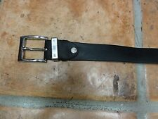 "Mens Joseph Di'pino Vera Pelle Black Leather Belt 41"" long Italy Free Shipping"