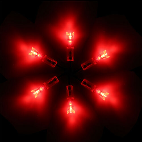 2 Packs Red Lighted Nock New Long Time I.D 7.62mm For Crossbow 6Pcs//Pack