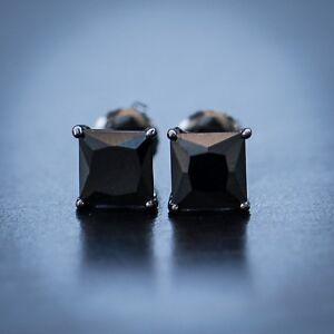 Image Is Loading Men 039 S Black Onyx Diamond Stud