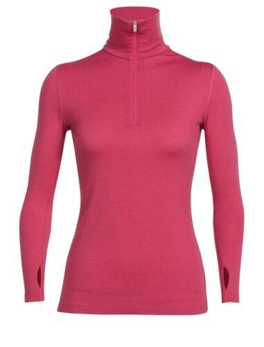 Hemden Bekleidung Icebreaker Wmns Tech Top Ls Half Zip Wild Rose Merinowolle UVP 129,95 hier 10%