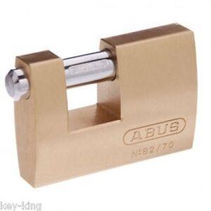ABUS Padlock Monoblock  82/70 -70mm Shipping Container Padlock-FREE POSTAGE