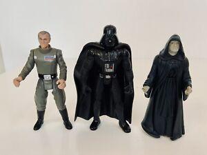 Lot-Of-3-1997-Kenner-Star-Wars-POTF-Emperor-Moff-Tarkin-Darth-Vader-amp-Emperor