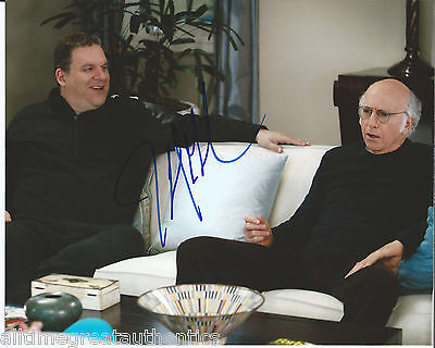 Actor Comedian Jeff Garlin Hand Signed 'curb Your Enthusiasm' 8x10 Photo B W/coa Lovely Luster Autographs-original Photographs