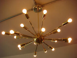POLISHED-BRASS-ATOMIC-SPUTNIK-STARBURST-LIGHT-FIXTURE-CHANDELIER-CEILING-LAMP