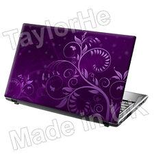 "17 ""Laptop SKIN Cover Adesivo Decalcomania Viola Floreale 32"
