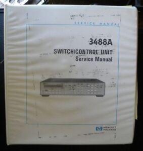 hp 3488a switch control unit service manual u003e ebay rh ebay com HP All in One Desktop Manuals hp 3488a switch control unit manual