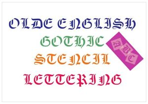 Olde-English-Letter-Stencil-Tiles-or-Sheet-3-Sizes-350-Micron-Mylar-FONT009