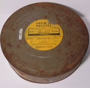 Empty Old Vintage 1950 EASTMAN KODAK MOTION PICTURE SAFETY FILM TIN MADE IN USA