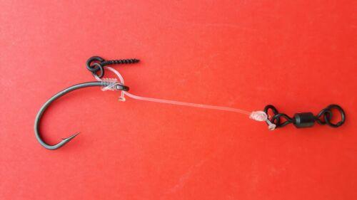 Chod Rigs mit Doppelringswivel 360 ° 7-8 cm 3x Karpfen D-Rig 5 Varianten