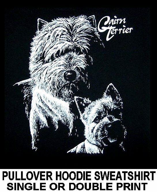 GORGEOUS CAIRN TERRIER DOG ART ON A PULLOVER HOODIE SWEATSHIRT 735