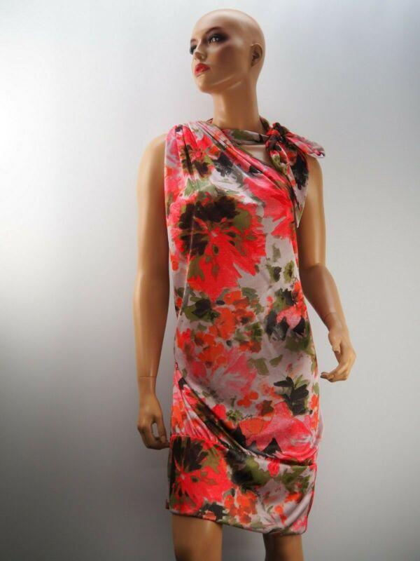 Freundlich Damen Damenkleid Kleid Partykleid Cocktailkleid Neu Miss Sixty Bunt Größe 42 Xl