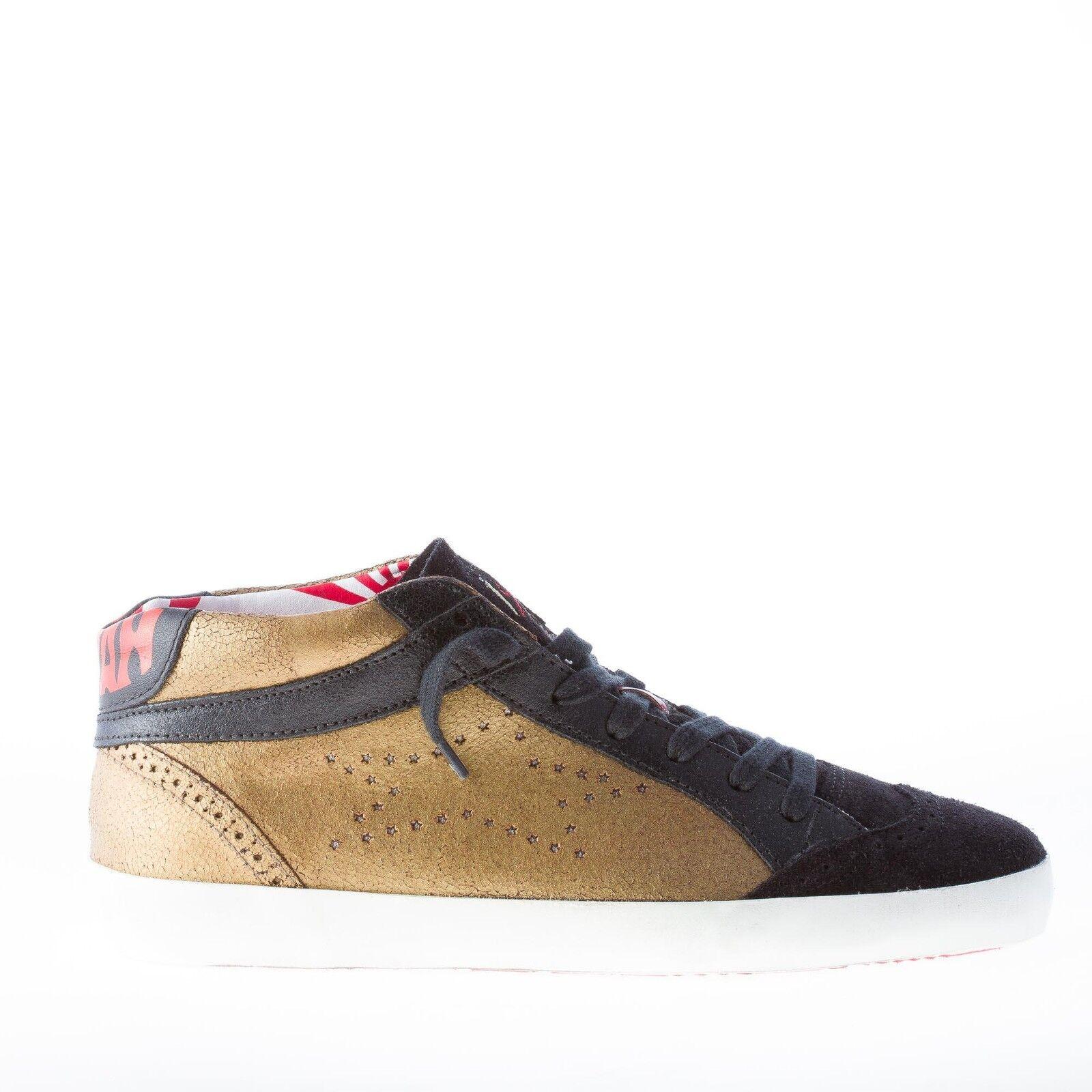 Ishikawa Mujeres Zapatos Tenis De Cuero oro tono tono tono envejecido con detalles negro de alta  hasta un 60% de descuento