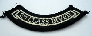 Rare Vintage Scuba Diving Patch 2nd Class Diver