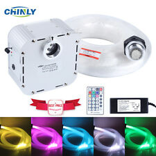 32W Twinkle RGB LED Fiber Optic  star ceiling kit light 800pcs 4m 0.75mm