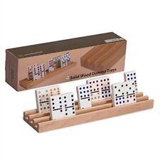 Premium Beech Wood Domino Racks / Trays - Set of 4 Yellow Mountain Imports