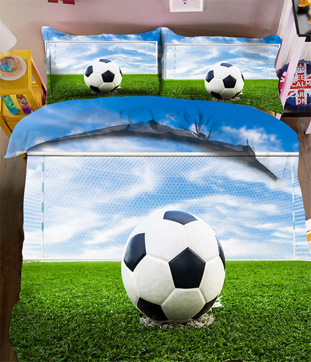 Enormous Football 3D impression couette courtepointe volonté des couvertures PilFaible cas literie ensembles