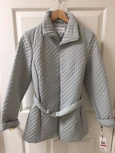 Ny Størrelse Calvin Gray Quilted Xs Women's Klein Jacket Cw924650 vZqrvx