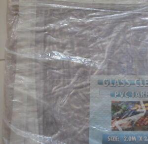 1m Clear Tarpaulin 2m X 2m Rain Sheet Tarp Sheeting Cover,1