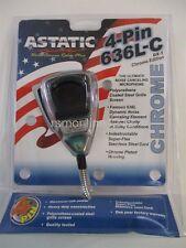 ASTATIC Chrome CB Ham Radio Microphone 636 LC DX-1 mic BRAND NEW