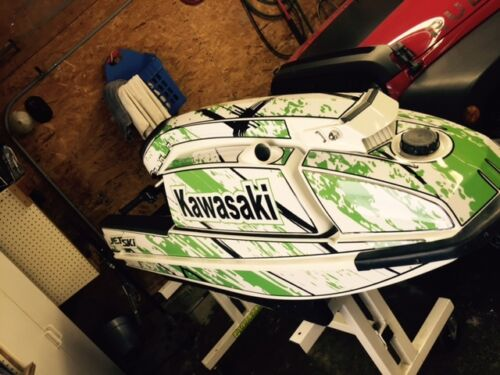kawasaki 440 550 sx jet ski wrap graphics pwc stand up jetski decal flames 1