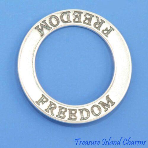 Liberté Confirmation 925 Argent Massif Cercle Bande Pendentif Fabriqué en USA