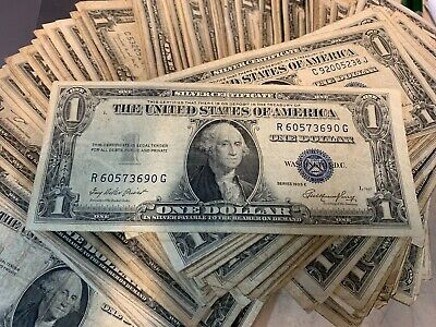 50 1935 $1.00 Dollar US Note Silver Certificate Collection $50 BULK Lot