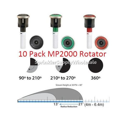 (10) HUNTER MP2000 ROTATOR - 13'-21' (4m - 6.4m)- ALL ARCS THIS LISTING - FEMALE