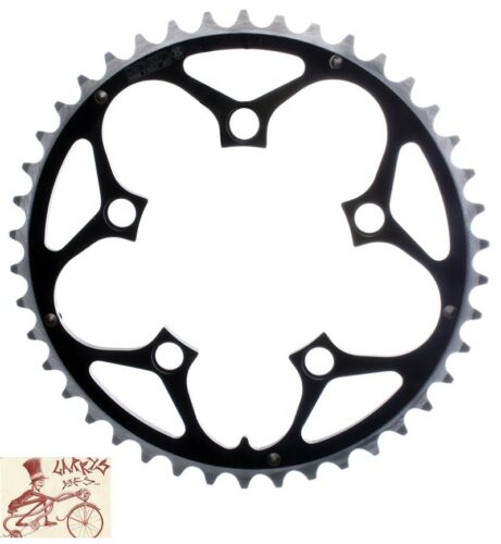 ORIGIN8 RAMPED//PINNED 94mm 5-BOLT 42T BLACK ALLOY BICYCLE CHAINRING