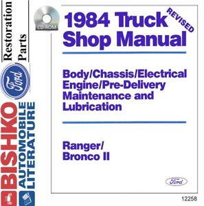 1983 1984 ford bronco ii ranger shop service repair manual cd engineimage is loading 1983 1984 ford bronco ii ranger shop service