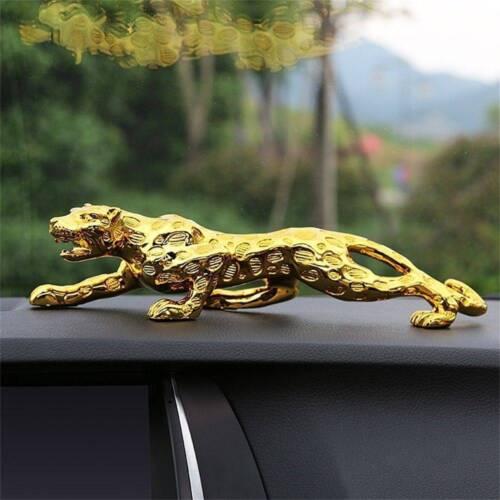Leopard Car Decor interior Cat Home Office  Metal Statue \\