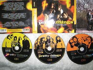 3-CD-Digipak-The-Pretty-Things-Singles-As-amp-Bs-Garage-Punk-Rock