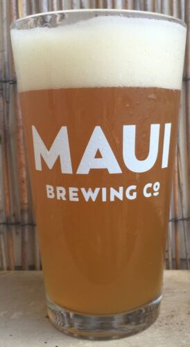Maui Brewing Company Hawaii Hawaiian Pint Beer Porter Ale Bar Glass New set of 4
