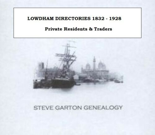 GENEALOGY DIRECTORY FOR TOWNS /& VILLAGES IN NOTTINGHAMSHIRE 1828-1931