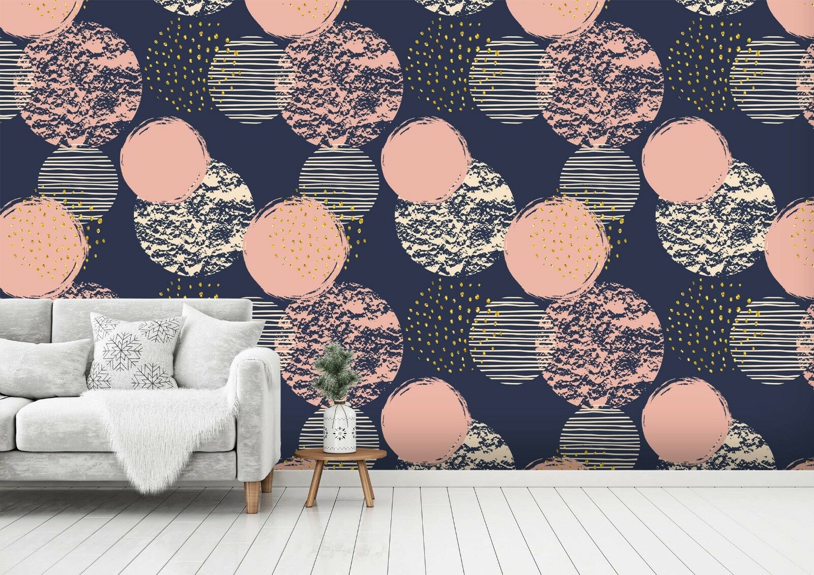 3D Pink gold Pattern 45 Wall Paper Wall Print Decal Wall Deco Indoor Wall Murals