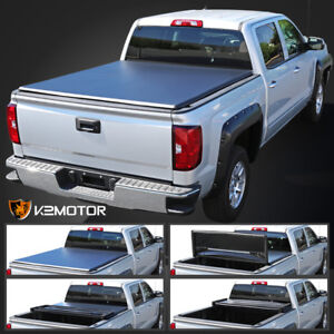For 2015 2019 Nissan Frontier Pickup 5ft Short Bed Trunk Tri Fold Tonneau Cover Ebay