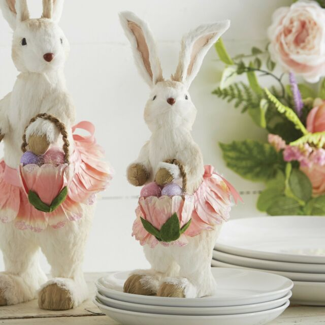 1 Pc Colorful Wooden Rabbit Easter Bunny Standing Ornament for Easter Decoration