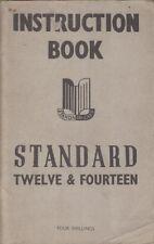 STANDARD TWELVE 12 & FOURTEEN 14 SALOON & COUPE ORIG. 1947 INSTRUCTION HANDBOOK