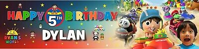 Personalised Ryan/'s World Birthday Banner Name and Any Age BDK14 Ryans World