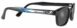 X KD's Sunglasses Original Biker Shades Motorcycle Pipe Frame Smoke 1227