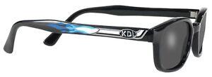 X KD's Sunglasses Original Biker Shades Motorcycle Pipe Frame Smoke 1227