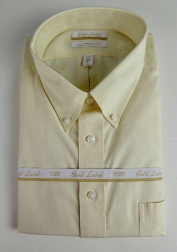 Roundtree /& Yorke Gold Label Non Iron EZ Wash Dress Shirt NWT 55 Pinpoint Cotton