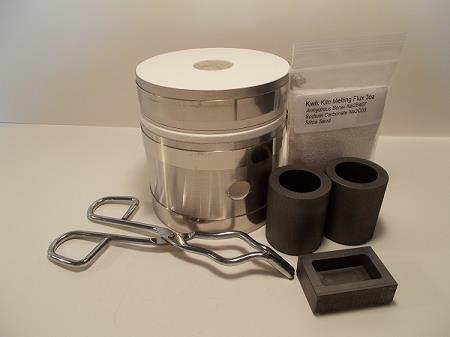Kwik Kiln II Deluxe Melting Kit – Make your own 1 - 6 oz Gold & Silver Bars