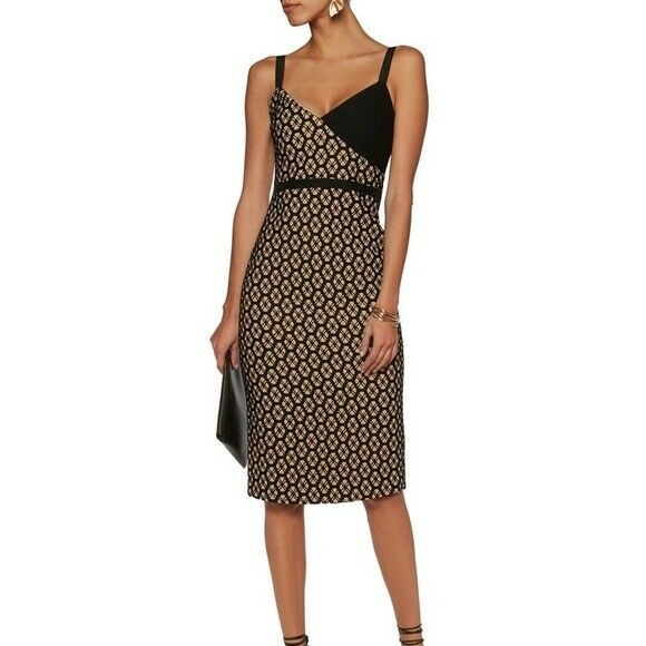 Cinq A Sept Sera Lace Print Sheath Dress Sz 2 Colorblock by Cinq à Sept