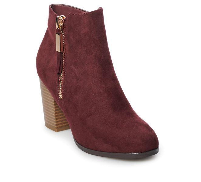 Nwt Damen Apt. 9 High Heels Stiefeletten Schuhe Größe Wählen Wein